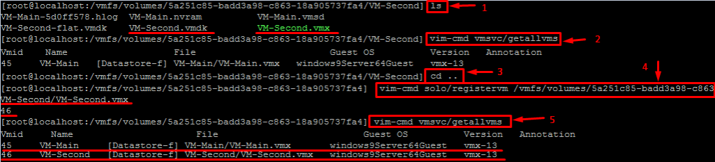 VM-Second codes