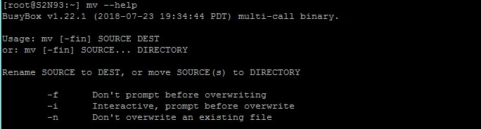 mv – moving or re-naming a specific file or directory.