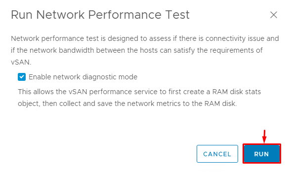 Enable network diagnostic mode to run tests faster