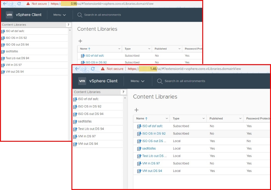 Manage Content Library from any vCenter Server instance connected to that PSC